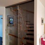 Einbau Schiebetüren vor Treppenhaus