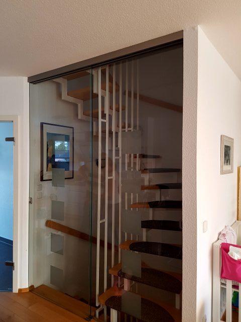 einbau schiebet ren vor treppenhaus der holztechniker. Black Bedroom Furniture Sets. Home Design Ideas